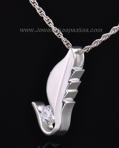 Sterling Silver Flutter of Memories Cremation Necklace