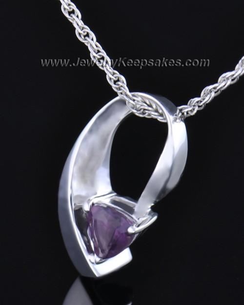 Sterling Silver Lovely Lavender Cremation Necklace