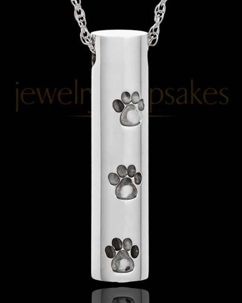 Pet Necklace Urn Stainless Steel Gentle Lasting Imprint