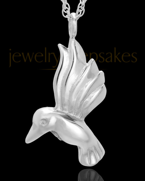Sterling Silver Flight of Love Urn Keepsake