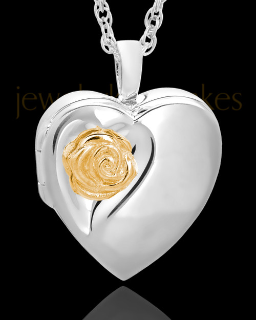 Sterling Silver Blossom of Love Urn Keepsake-Locket