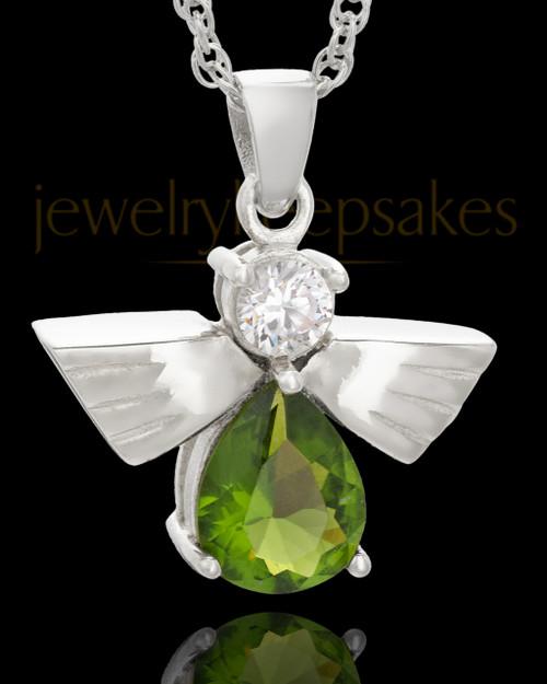 Sterling Silver Green Lovely Messenger Urn Keepsake