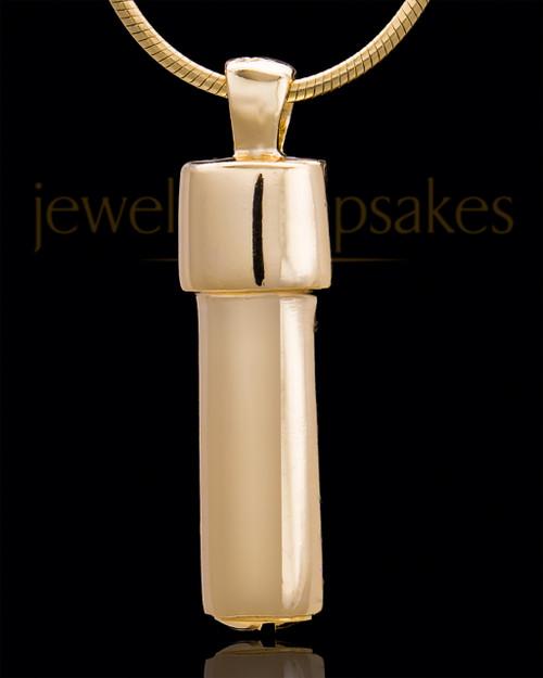 Gold Plated Vigilant Cylinder Keepsake Jewelry