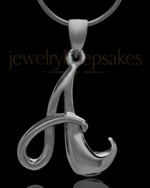"Black Plated ""A"" Keepsake Jewelry"