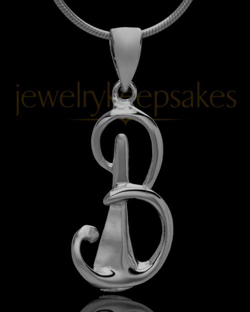 "Black Plated ""B"" Keepsake Jewelry"