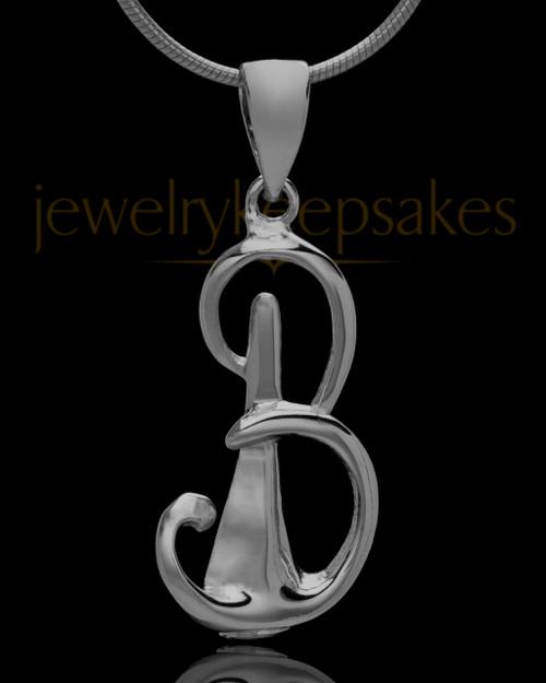 "Black Plated ""B"" Keepsake Jewelry"