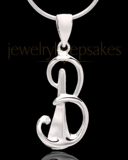 """Sterling Silver """"B"""" Keepsake Jewelry"""