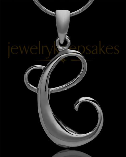 "Black Plated ""C"" Keepsake Jewelry"