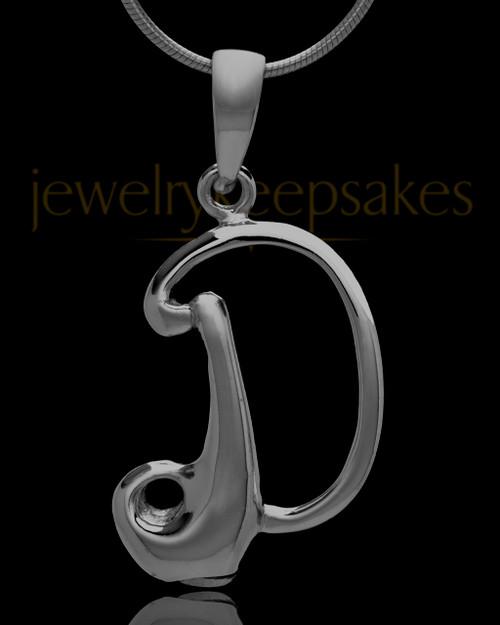 "Black Plated ""D"" Keepsake Jewelry"