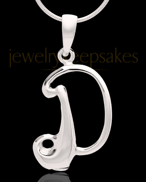 "Sterling Silver ""D"" Keepsake Jewelry"