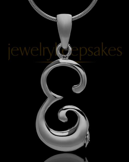 """Black Plated """"E"""" Keepsake Jewelry"""