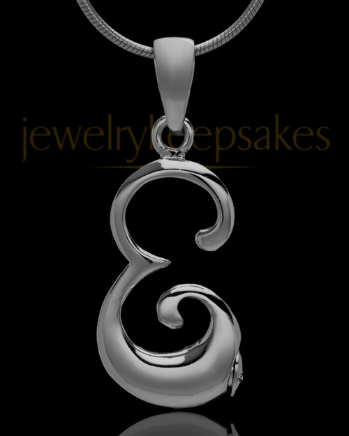 "Black Plated ""E"" Keepsake Jewelry"