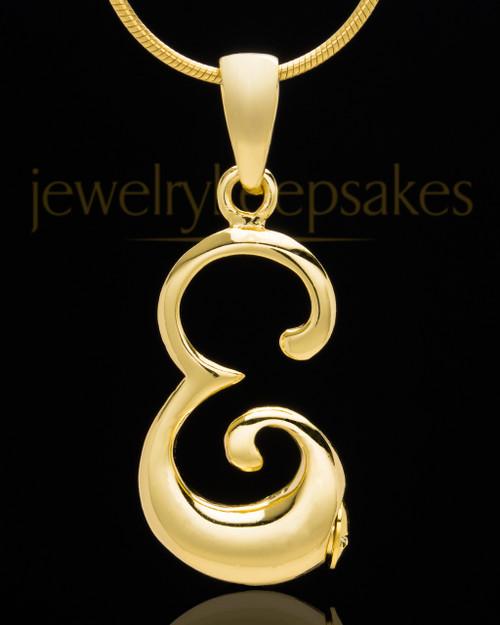 "Gold Plated ""E"" Keepsake Jewelry"