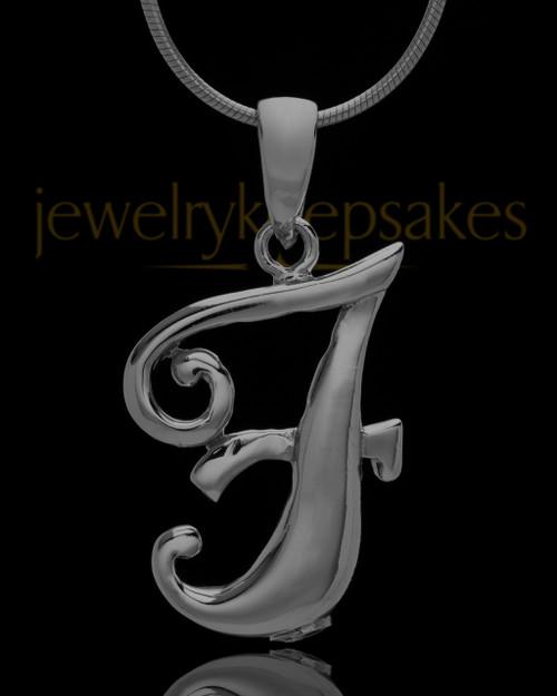 "Black Plated ""F"" Keepsake Jewelry"