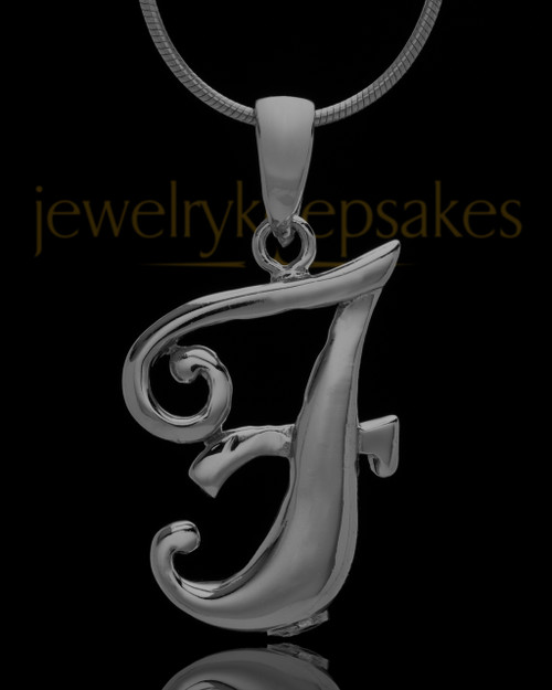 "Black Plated ""F"" Keepsake Jewelry"