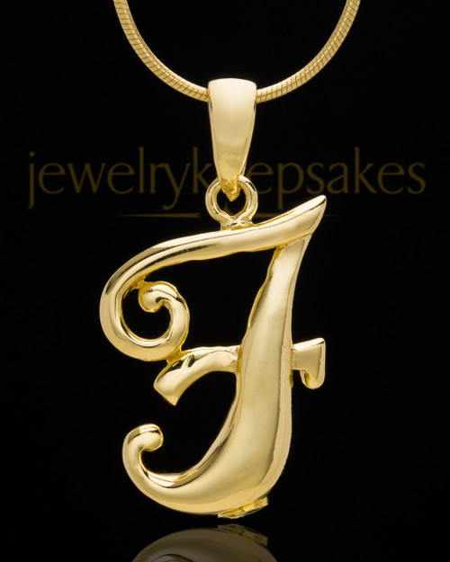 "Gold Plated ""F"" Keepsake Jewelry"