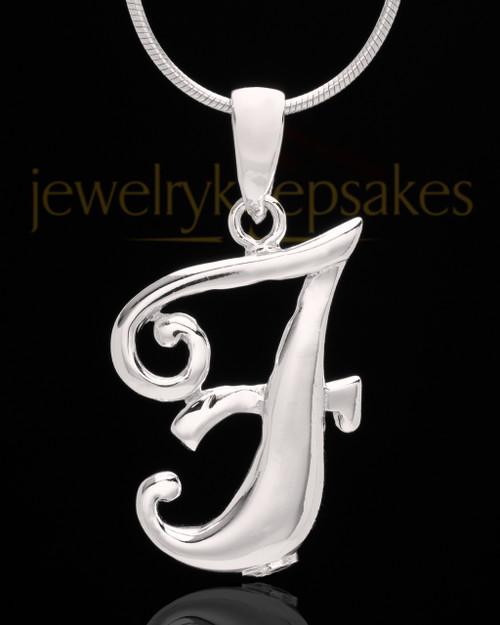 "Silver Plated ""F"" Keepsake Jewelry"