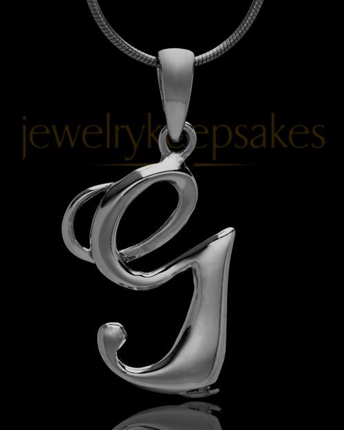 "Black Plated ""G"" Keepsake Jewelry"