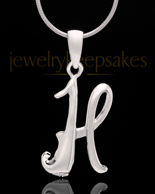 "Silver Plated ""H"" Keepsake Jewelry"