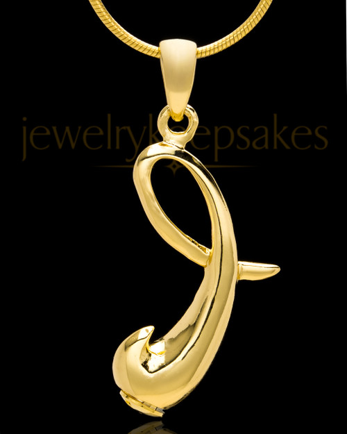 "Gold Plated ""I"" Keepsake Jewelry"