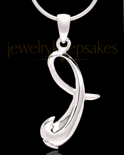 "Silver Plated ""I"" Keepsake Jewelry"
