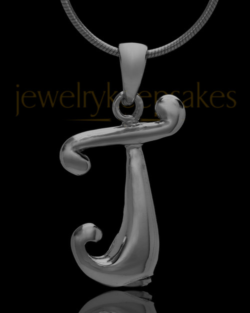 "Black Plated ""J"" Keepsake Jewelry"