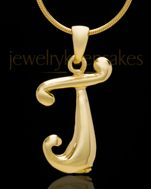 "Gold Plated ""J"" Keepsake Jewelry"