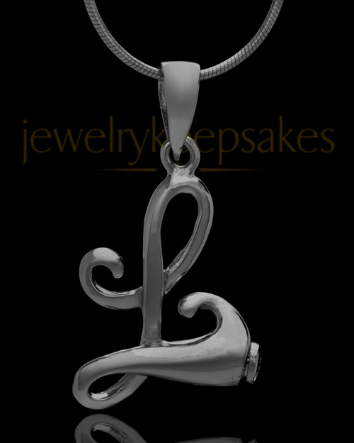 "Black Plated ""L"" Keepsake Jewelry"