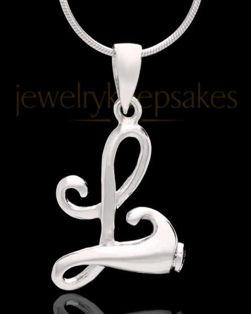 """Sterling Silver """"L"""" Keepsake Jewelry"""