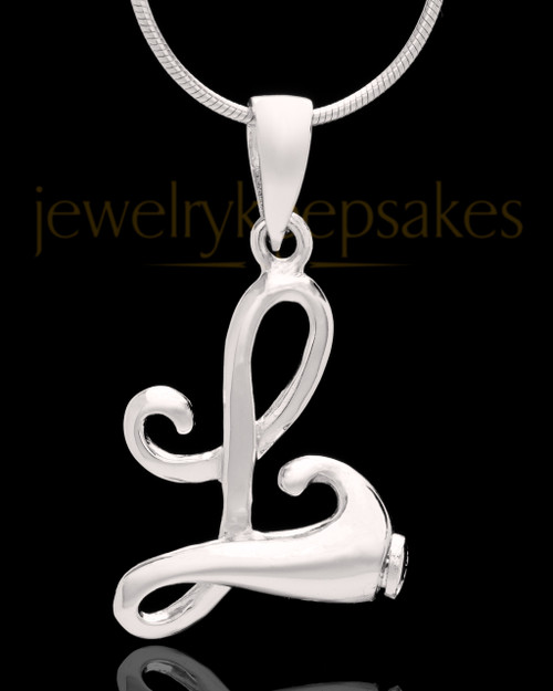 "Sterling Silver ""L"" Keepsake Jewelry"
