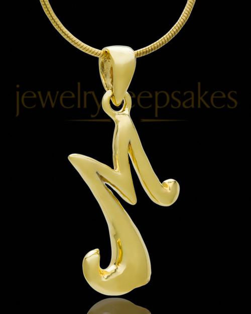 "Gold Plated ""M"" Keepsake Jewelry"