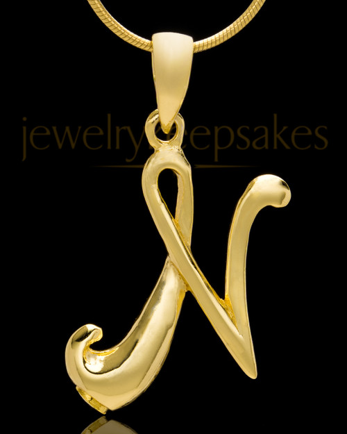 "Gold Plated ""N"" Keepsake Jewelry"