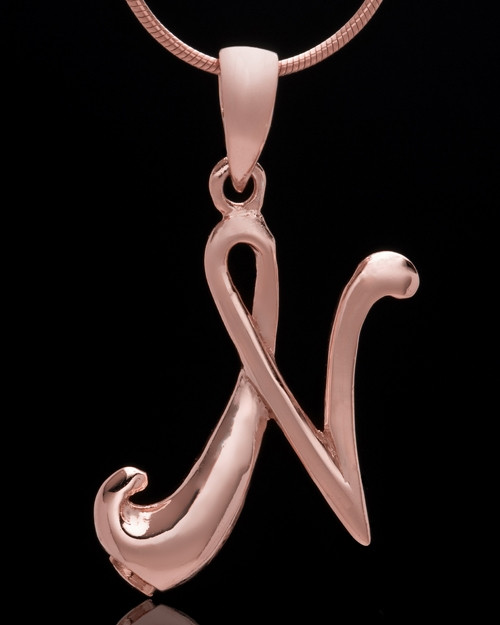 "Rose Gold Plated ""N"" Keepsake Jewelry"