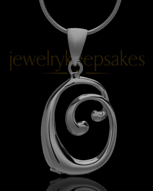 """Black Plated """"O"""" Keepsake Jewelry"""