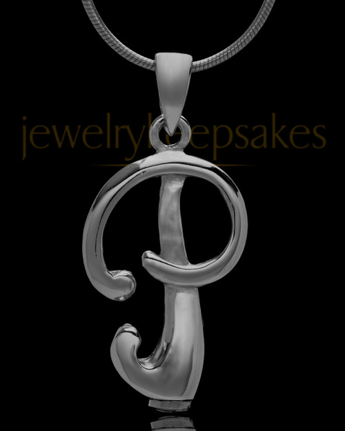 "Black Plated ""P"" Keepsake Jewelry"
