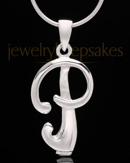 "Sterling Silver ""P"" Keepsake Jewelry"