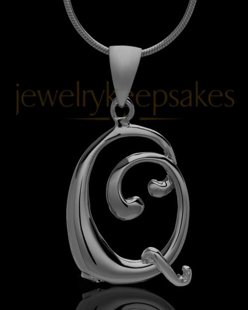 "Black Plated ""Q"" Keepsake Jewelry"