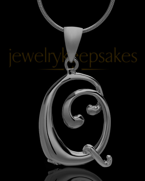 "Black Plated ""Q"" Keepsake Jewelry"