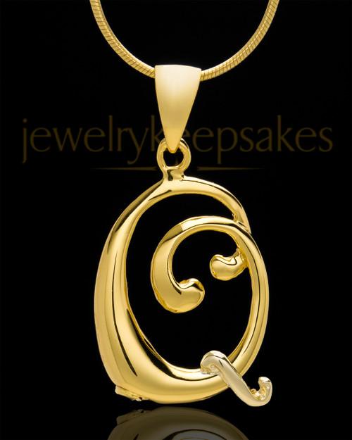 "Gold Plated ""Q"" Keepsake Jewelry"