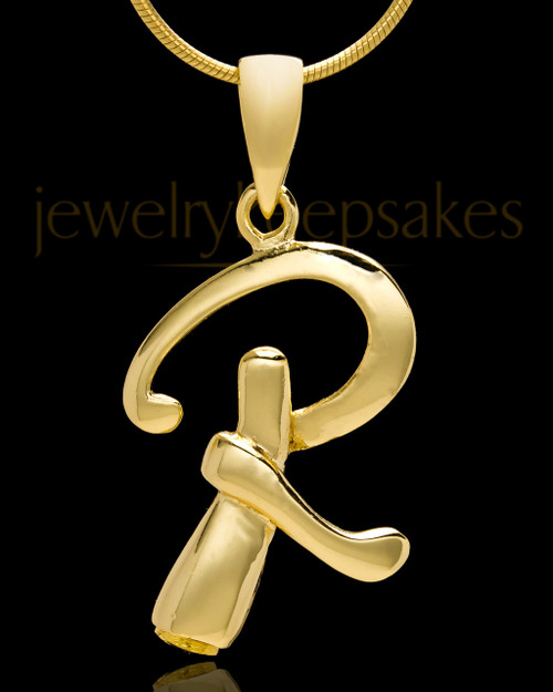 "Gold Plated ""R"" Keepsake Jewelry"