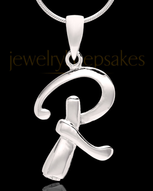 "Sterling Silver ""R"" Keepsake Jewelry"