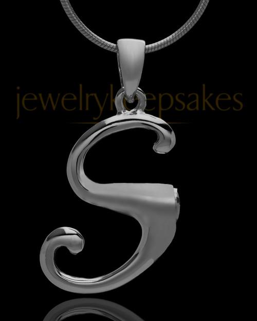 "Black Plated ""S"" Keepsake Jewelry"
