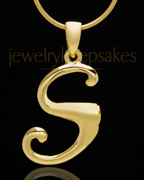 "Gold Plated ""S"" Keepsake Jewelry"