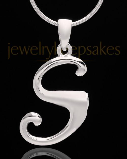 """Sterling Silver """"S"""" Keepsake Jewelry"""