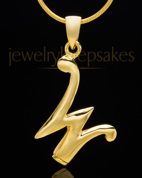 "Gold Plated ""W"" Keepsake Jewelry"
