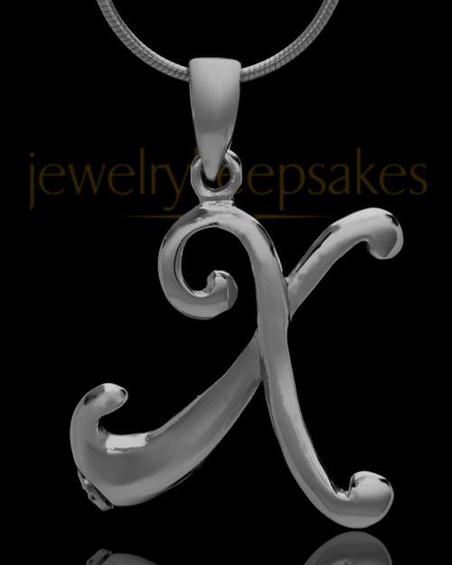"Black Plated ""X"" Keepsake Jewelry"