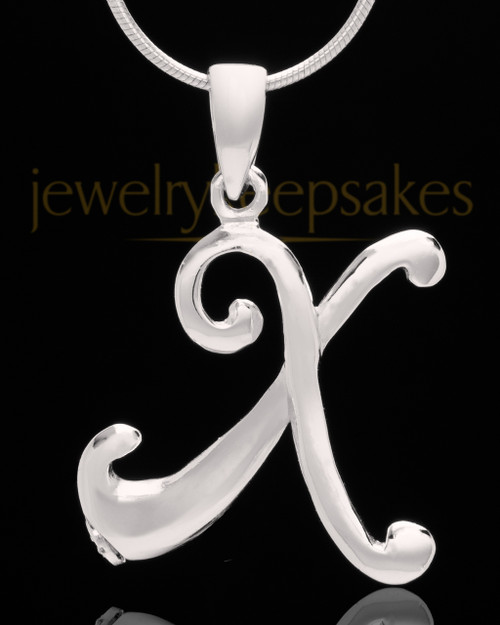 "Silver Plated ""X"" Keepsake Jewelry"