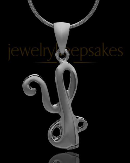 "Black Plated ""Y"" Keepsake Jewelry"
