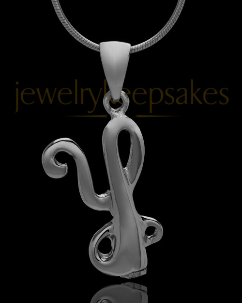 "Black Plated ""Y"" Keepsake Jewelry"