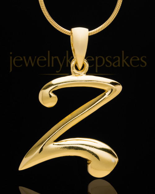 "Gold Plated ""Z"" Keepsake Jewelry"